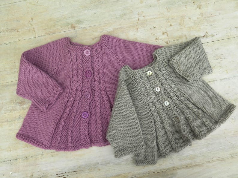 6ed9a20d2 KNITTING PATTERN Girls Cardigan Billy s Girl Baby