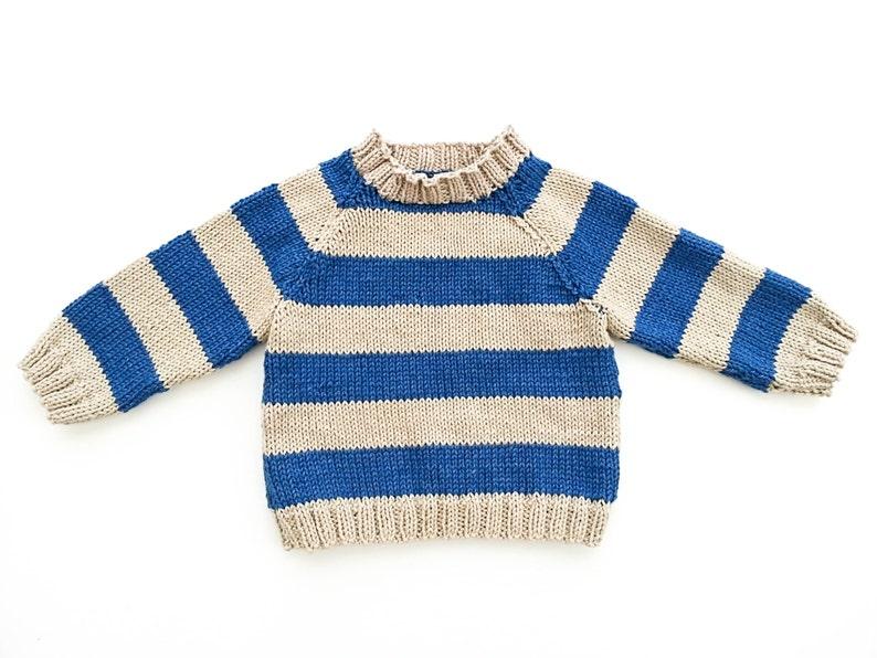 9569416c889c KNITTING PATTERN Striped Raglan Sweater Cardigan Optional