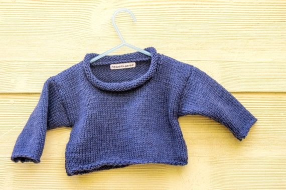 Knitting Pattern Baby Sweater Baby Jumper Easy Baby Sweater Etsy