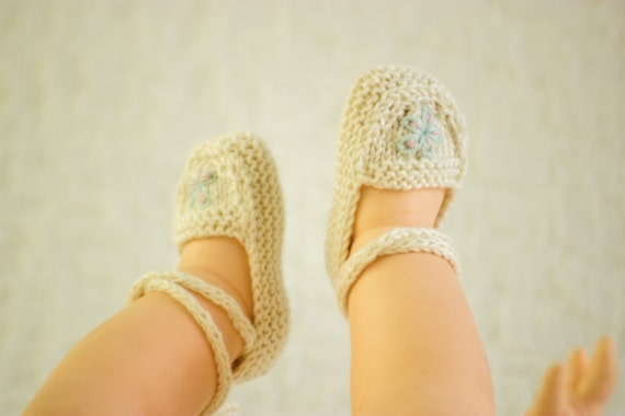 Knitting Pattern Baby Ballet Shoes Baby Ballet Slippers Etsy