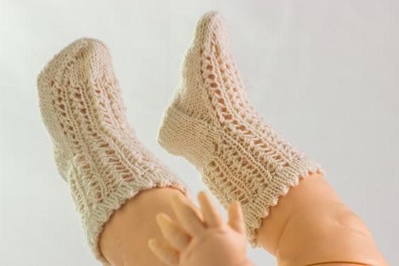Knitting Pattern Baby Sock Pattern Girls Lace Rib Socks In Etsy