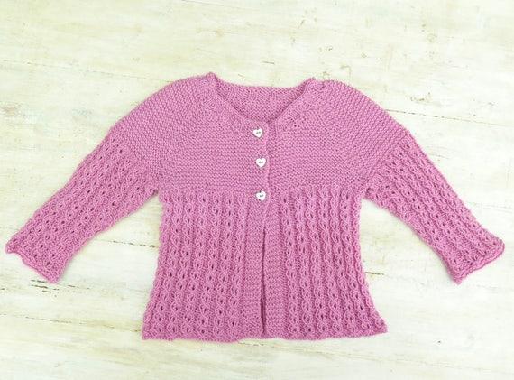 Knitting Pattern Baby Jacket Baby Cardigan Lace Cardigan Etsy