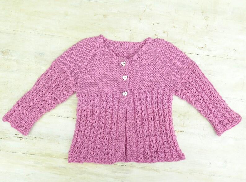 34e2c37b4561 KNITTING PATTERN Baby Jacket Baby Cardigan Lace Cardigan