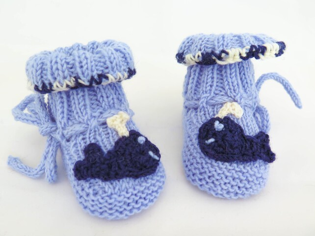 Knitting Pattern Easy Baby Booties Six In One Classic Baby Etsy