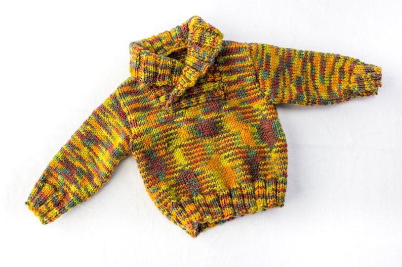 19c45b496 KNITTING PATTERN Shawl Collar Sweater 6 Sizes Baby