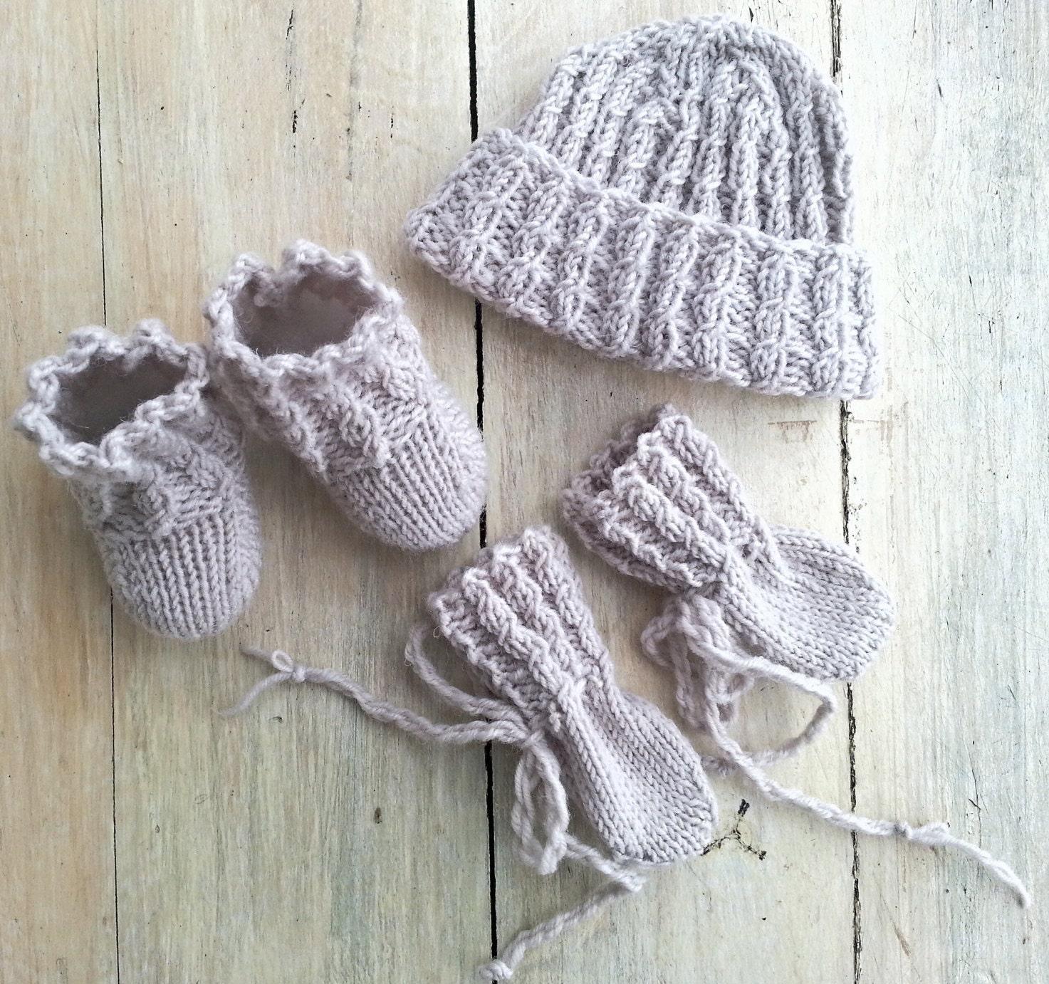 KNITTING PATTERN, Premature Baby Set, Knit Tiny Baby Set of Hat ...