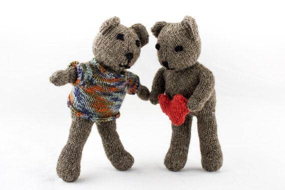 Knitting Pattern Teddy Bear Knitting Patternseamless Teddy Etsy