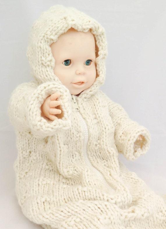 KNITTING PATTERN Baby Sleeping Bag Baby Bunting Hooded Baby | Etsy