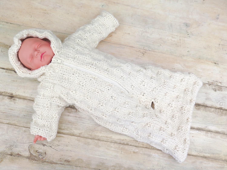 KNITTING PATTERN Baby Sleeping Bag Baby Bunting Hooded ...