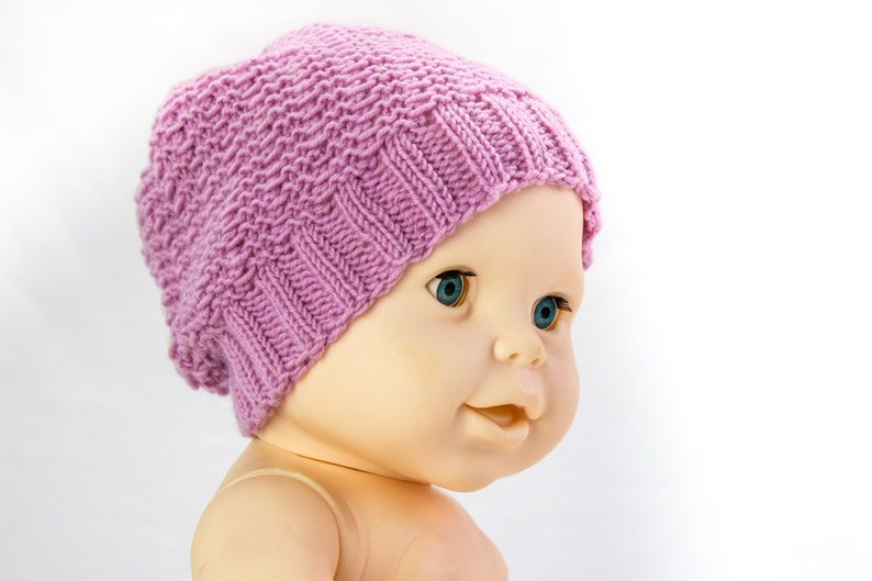 KNITTING PATTERN Sophisticated Slouchy Hat Baby Slouch Hat  aa2af4cb8ab