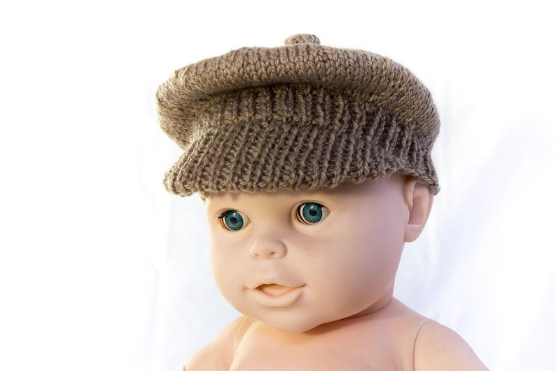 28603df914b KNITTING PATTERN PDF Newsboy Cap Brimmed Cap Baby Boy Cap