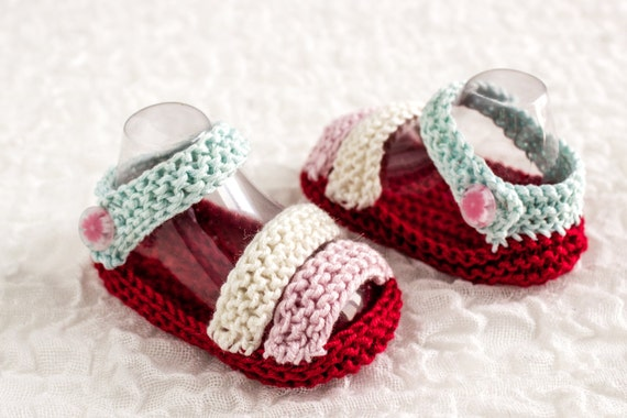 Knitting Pattern Baby Sandals Pattern Summer Booties Etsy