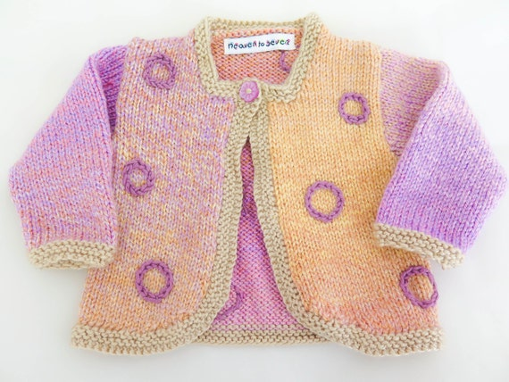 08f73ac34 KNITTING PATTERN Girl s Cardigan Girls Sweater 6 Sizes