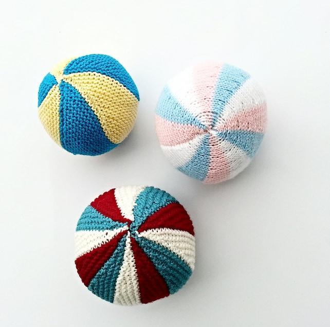KNITTING PATTERN Knitted Balls Rainbow Ball Soccer Ball | Etsy