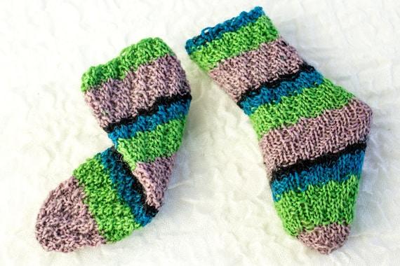Knitting Pattern Baby Socks Tube Socks Knitted Magic Spiral Etsy