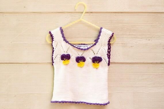Knitting Pattern Pdf Baby Singlet Top Baby Vest Knitting Etsy