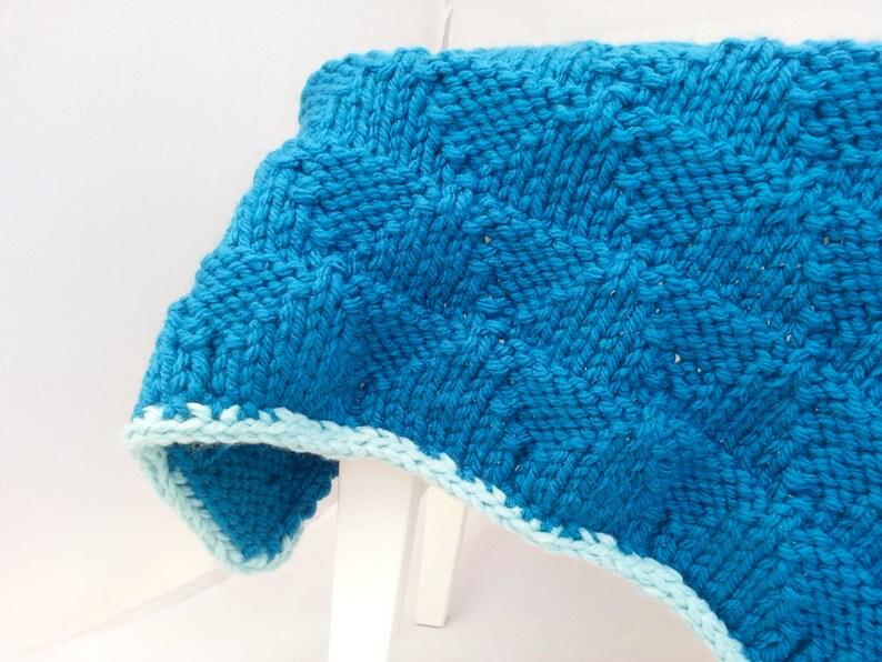 KNITTING PATTERN Baby Blanket Pattern Bulky Yarn Super   Etsy