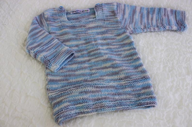 d6e36f0d3d2f KNITTING PATTERN PDF Classic Baby Jumper Baby Sweater