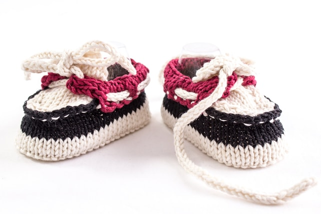 Knitting Pattern Baby Boat Shoes Baby Boy Booties Summer Etsy