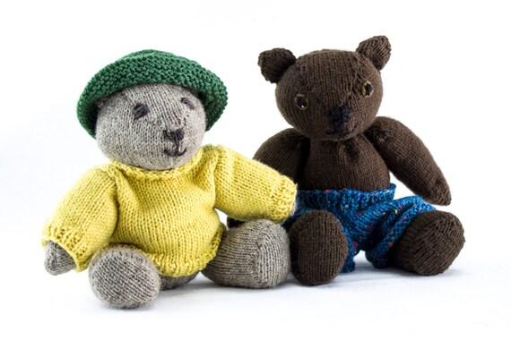 Knitting Pattern Teddy Bear Knitting Patternjointedteddy Etsy
