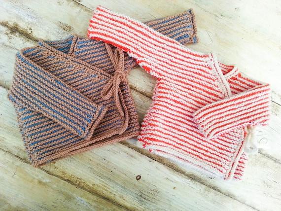 53c650a83 KNITTING PATTERN Baby Wrap Cardigan Baby Sweater 7 Sizes