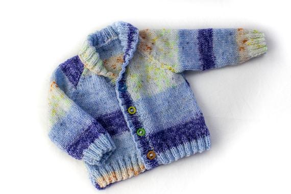 Knitting Pattern Shawl Collar Cardigan 6 Sizes Baby Etsy