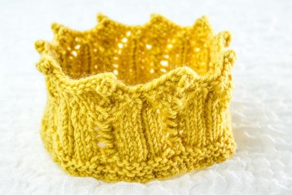KNITTING PATTERN PDF Knitted Crown Toy Crown Pattern  7f551caa7c5