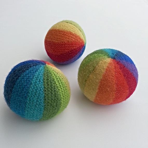 Knitting Pattern Knitted Balls Rainbow Ball Soccer Ball Etsy