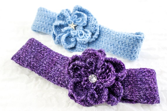 Knitting Pattern Baby Headband Knit Flower Headband Knit Rose