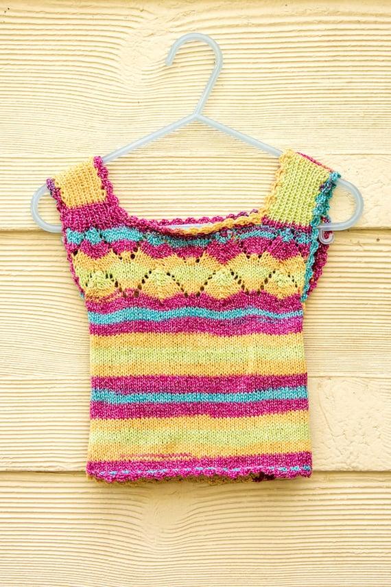 Knitting Pattern Baby Vest Baby Singlet Top Baby Summer Etsy