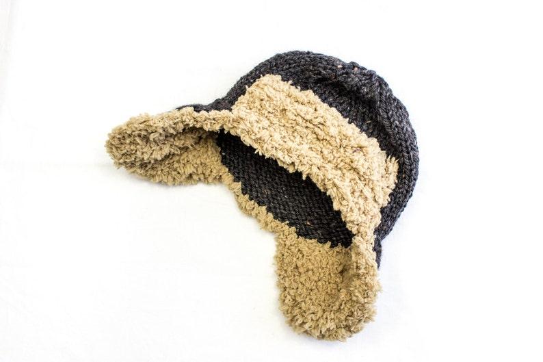 e3b3f4b5e8a02c KNITTING PATTERN Aviator Hat Knitting Pattern Trapper Hat | Etsy