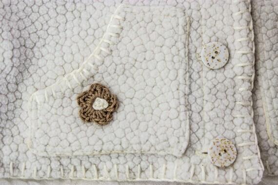 SEWING PATTERN, Baby Fleece Jacket, Crochet Flower Appliqué, Baby ...
