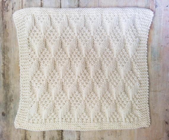Knitting Pattern Baby Blanket Bulky Yarn Modern Baby Blanket