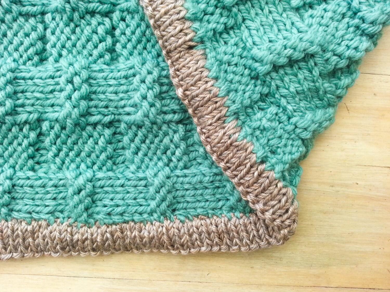 KNITTING PATTERN,Super Chunky Baby Afghan, Baby Blanket, Reversible ...