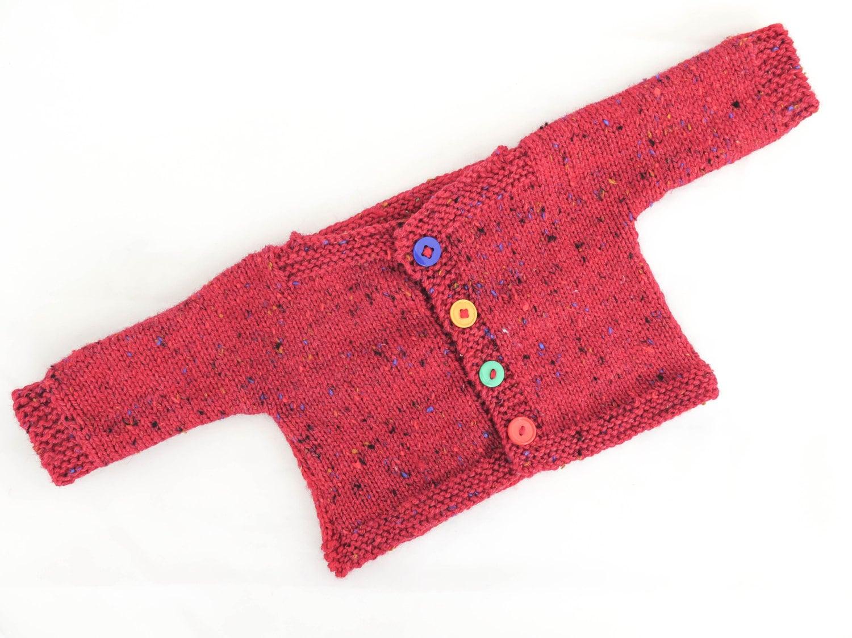 FREE KNITTING PATTERN Easy Baby Sweater Simply Splendid | Etsy