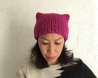 2de043b86f589 Pink Knit Pussy Hat