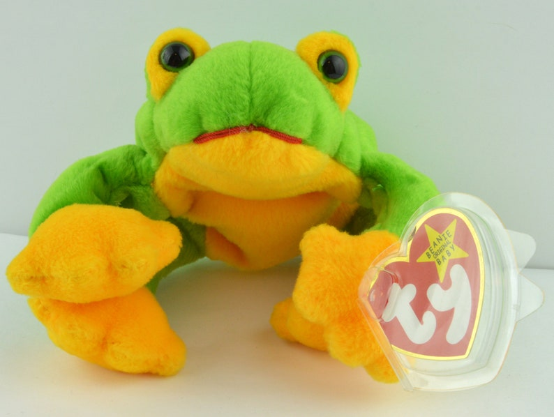 7e2ba9820b5 Ty Smoochy the Frog Beanie Baby Retired