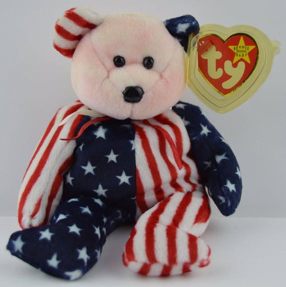 Ty Beanie Baby Spangle the Red White and Blue Bear  8768ced0fc