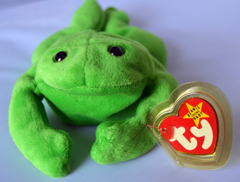 f80683402a5 Ty Beanie Baby Legs the Frog