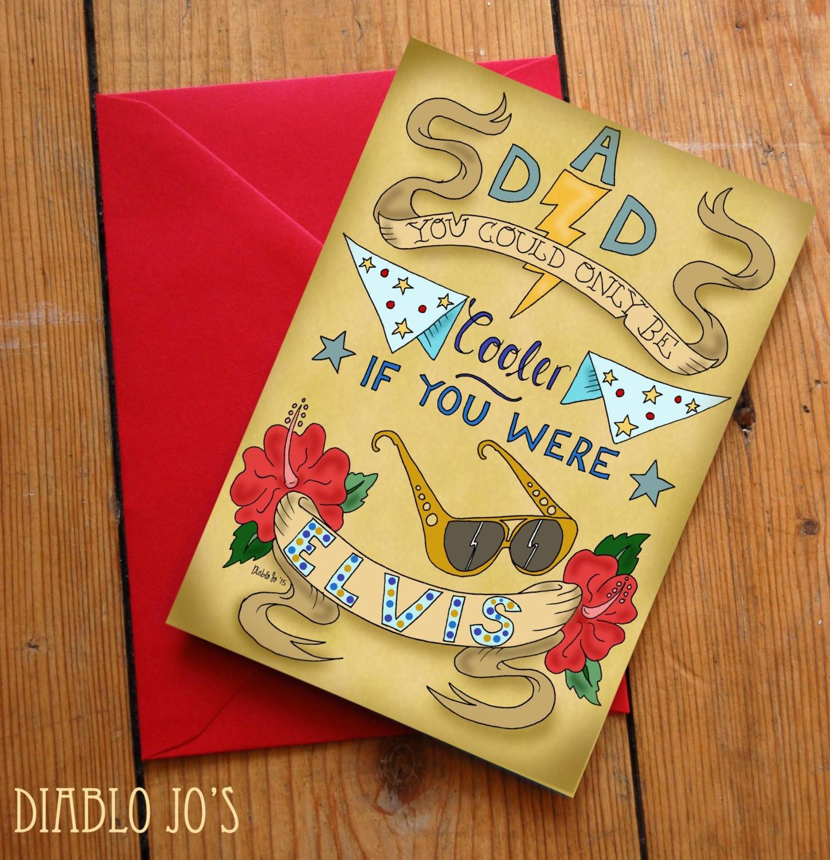 Elvis Father\'s day Card Rock n Roll 50\'s Rockabilly   Etsy