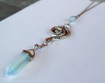PREY Snake Pendant Necklace- Ice Princess