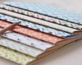Handbound notebooks • A5 format • Various patterns • Handmade stationery
