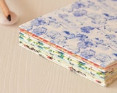 Set of 14 cards • Floral and coloured patterns • Handmade stationery