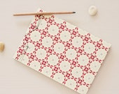 Handbound japanese notebook • 3 formats to choose • Floral pattern Nordique