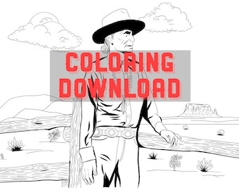 Navajo coloring page instant download