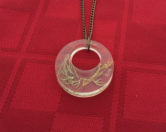 Dill in resin necklace