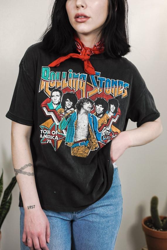 Genuine 1978 Rolling Stones Tour T-Shirt / Rare Vi