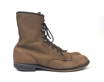 Size US 8.5 Womens - Lacer Boots - Vintage Brown Boot