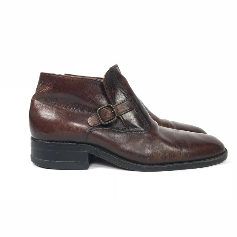 bb2d3650054f8 US Size 9 - Freeman Ankle Boot - Low Ankle Dress Boots - Vintage Dress Shoes