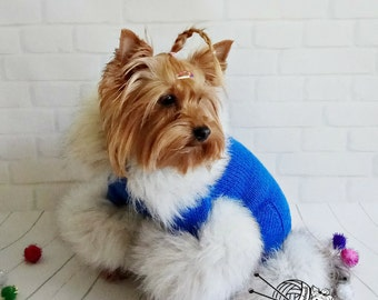 4acc489e261 knitted suit for a dog small dog sweaters pet costume dogs custom dog coat  designer dog clothes yorkie dog clothes pet clothes for dogs